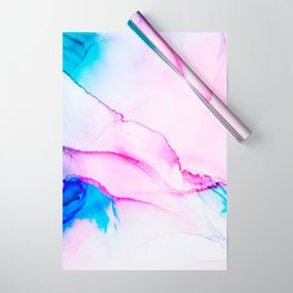 Fluid colorful ink Wrapping Paper