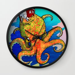 The Octopus and the Chicken Wall Clock