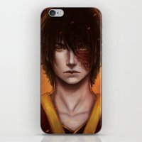 zuko iPhone & iPod Skins featuring Zuko Portrait by Amourinette