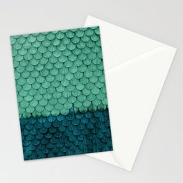 SHELTER / green and petrol Stationery Cards