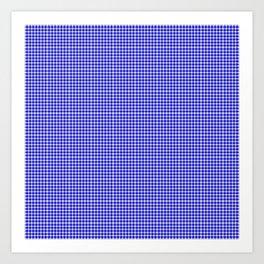 Blue Gingham Art Print