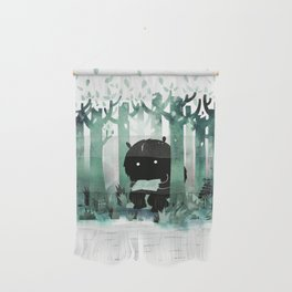 A Quiet Spot (in green) Wall Hanging