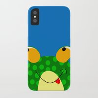 frog iPhone & iPod Cases featuring Frog by Jessica Slater Design & Illustration