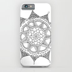 Black and White Circle Doodle iPhone 6s Slim Case