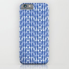 Blue Abstract Waves Pattern iPhone Case