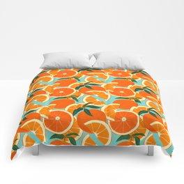 Orange Harvest - Blue Comforters