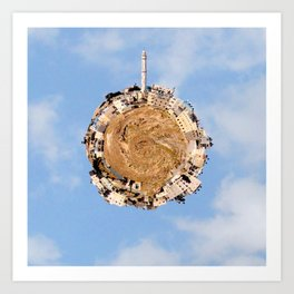 """Worlds in Jerusalem"" - East Jerusalem Neighborhood Art Print"