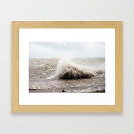 Isaac storm surge  Framed Art Print