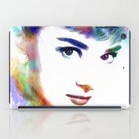 hepburn iPad Cases featuring Audrey Hepburn by Michael Akers
