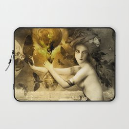 The Blessed Temperance, Gold Laptop Sleeve