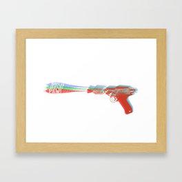 Ray Gun Color Framed Art Print