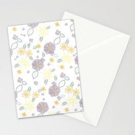 Lavender and Yellow Floral Stationery Cards