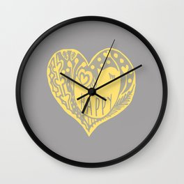 mellow yellow bird Wall Clock