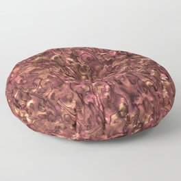 Abalone Shell | Paua Shell | Sea Shells | Patterns in Nature | Copper and Pink Tint | Floor Pillow