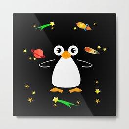Penguin Gift Idea Design Motif Metal Print