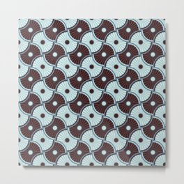 Brawn blue pattern 5 Metal Print