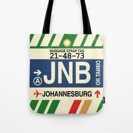 JNB Johannesburg • Airport Code and Vintage Baggage Tag Design Tote Bag