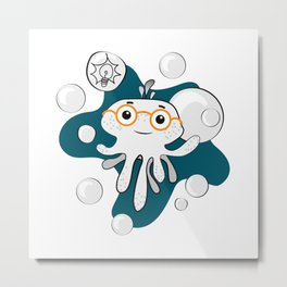 Octobaby - Smarty Metal Print