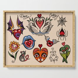 hearts and more hearts Serving Tray