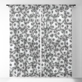 Soccer balls Sheer Curtain