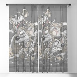 Line Rats Sheer Curtain