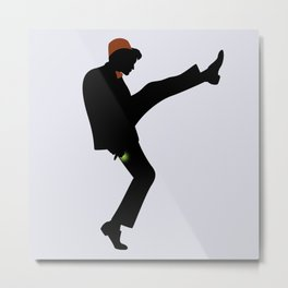 The 11th Doctor of Silly Walks Metal Print