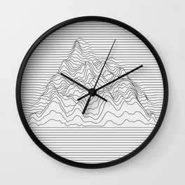 Mountain lines Wall Clock