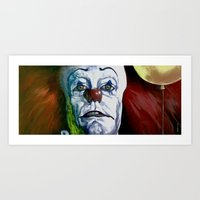 pennywise Art Prints featuring Pennywise by Todd Spence
