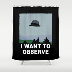 I Want to Observe Shower Curtain
