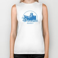 downton abbey Biker Tanks featuring The Wonderful World of Downton Abbey by rydrew