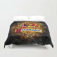 gryffindor Duvet Covers featuring Gryffindor team flag iPhone 4 4s 5 5c, ipod, ipad, pillow case, tshirt and mugs by Three Second