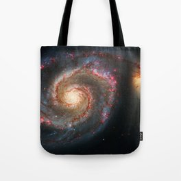 Whirlpool Galaxy and Companion Galaxy Tote Bag