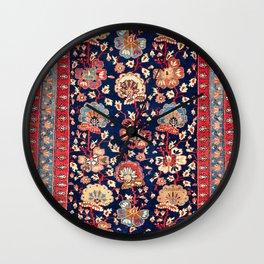 Garahgozloo West Persian Kurdish Rug Print Wall Clock