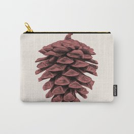 Red Pine Cone Carry-All Pouch