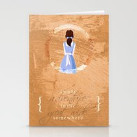 belle Stationery Cards featuring Belle by Camilla Kipp