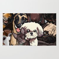 dogs Area & Throw Rugs featuring Dogs. by BinaryGod.com