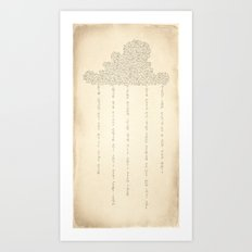 Cloud Art Print
