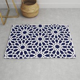 Moroccan Grid Blue Rug