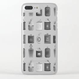 Flask Collection – Black Palette Clear iPhone Case
