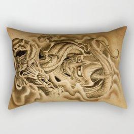 Hannya Dragon Rectangular Pillow