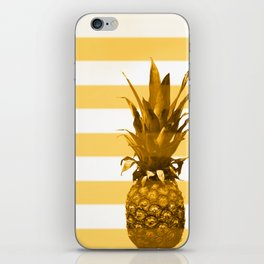 Pineapple with yellow stripes - summer feeling iPhone Skin