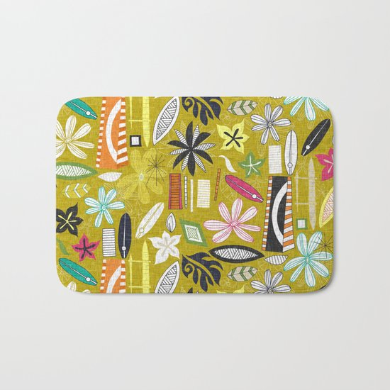 beachy yellow Bath Mat