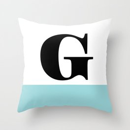 Monogram Letter G-Pantone-Limpet Shell Throw Pillow