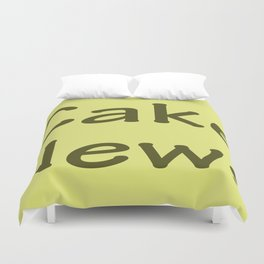 Cake News - Allusion to May in Salzburg Duvet Cover