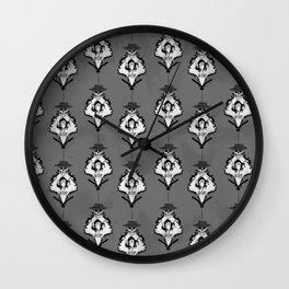 XOF Skull Face damask Wall Clock