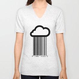 Barcode Cloud illustration  Unisex V-Neck