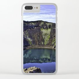 Kerid Crater Lake in Iceland Clear iPhone Case