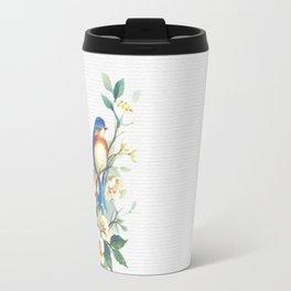 Floral Birds Travel Mug