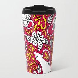 Tea Time Red Travel Mug