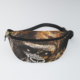 gorilla monkey face expression ws Fanny Pack